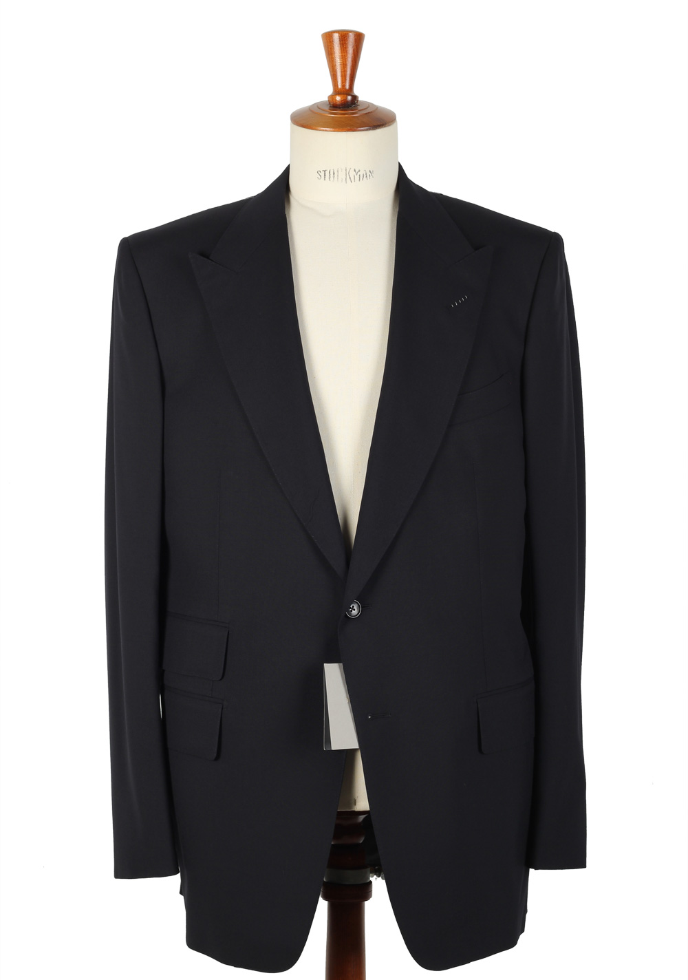 This IL Canto indigo denim suit is a contemporary, urban spin on the classic 3-piecer. The two-button jacket features peaked lapels with detachable faux leather detail that gives it tuxedo appeal. The high button vest has tabs at the waist to adjust the fit.
